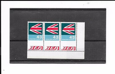 Gb Bea Stamps 4/3 Strip Of 3.