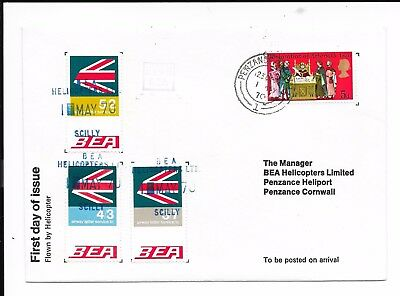 Gb 1970 Scilly - Penzance Bea Helicopter Cover