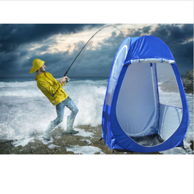 Blue Outdoor Single Pop-up Tent Sports Pod Under The Wather Watching Sport