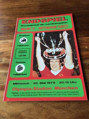 Nottingham Forest V Malmo 1979 European Cup Final Programme Mint Free Postage