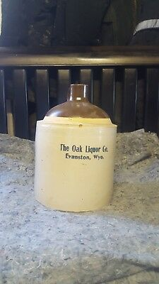 "vintage liquor jug "" The Oak Liquor Co"""