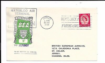GB JERSEY 1953 8d RATE BEA COVER