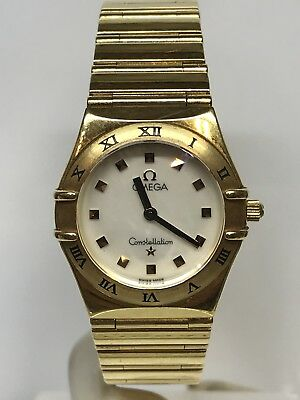 Watch Omega Costallation Quartz Lady Gold 18ct 25mm Discounted New