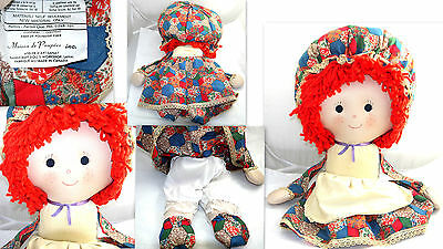 "Vintage Rag Dolls Holly Hobbie Style Sz: 22"" Tall Collectible"