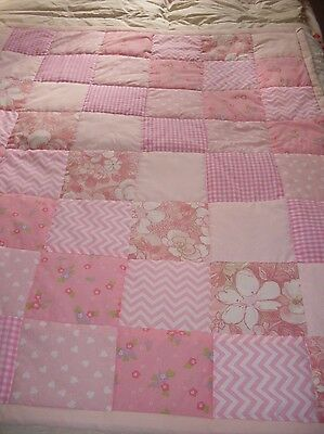 Cot/Toddler Quilt - Pink Patchwork