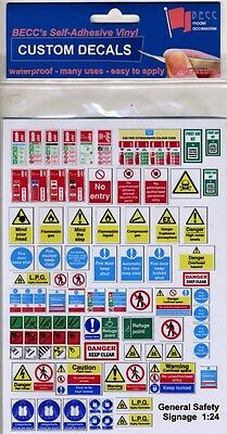 G LGB 1:24 Scale Modern Garage Building Warning Notice Signs Railway Diorama