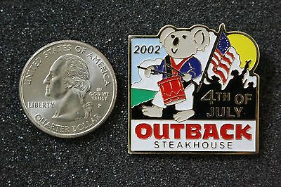 Outback Steakhouse 4th Of July 2002 Koala Drumer Solider Flag Pin Pinback #15566