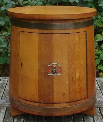 ### Superb Quality Vintage Coopered Oak Ships Pot Cupboard ###