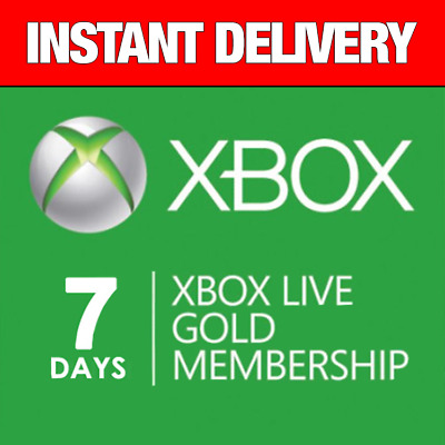 Genuine 7 Day Xbox Live Gold Trial Code