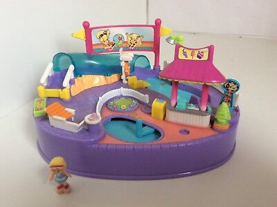 Vintage Polly Pocket Magical Swin about Pool Party 99% Complete