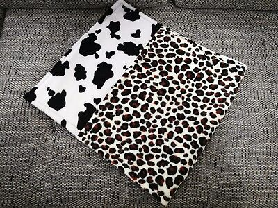 Guinea pig fleece liner for Ferpalst cages, double sided, leopard/cow