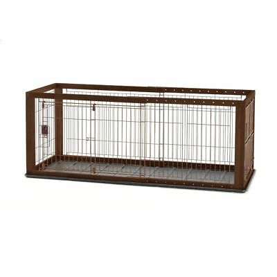 """RICHELL 94920  Brown EXPANDABLE PET CRATE WITH FLOOR TRAY SMALL BROWN 35.4"""" -..."""