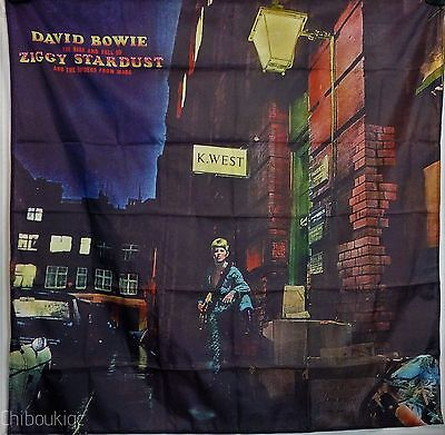 DAVID BOWIE Rise Fall Ziggy Stardust HUGE 4X4 BANNER poster tapestry cd album