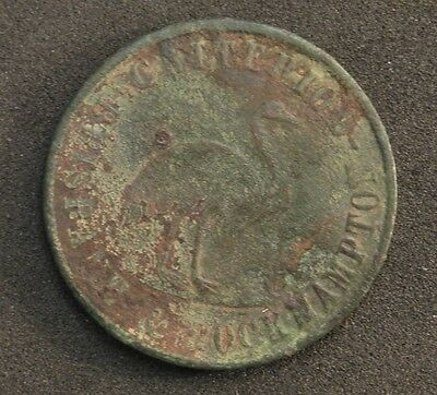 One Penny Token Stewart And Hemmant Drapers