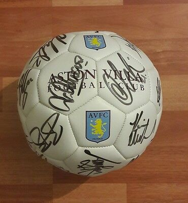 2011-2012 Aston Villa Squad Signed Official Football