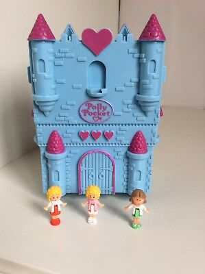 Vintage Polly Pocket 1994 Fairytale Castle Playset With Figures