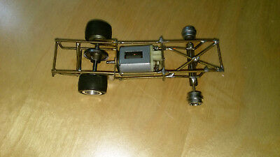 Slot Car 1/32 scale custom rolling chassis and working engine