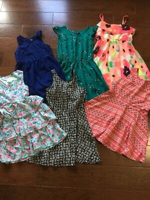 Lot Of 6 Girls Dresses 6 7 Justice Gap TCP Old Navy