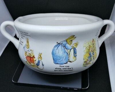 Beatrix Potter Peter Rabbit Teleflora Gift Two Handle Bowl Collectable