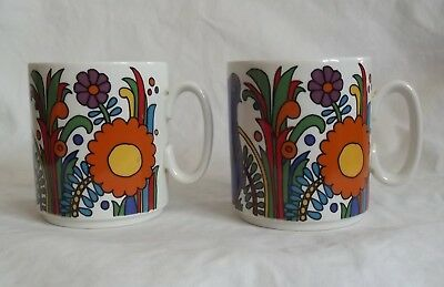 Villeroy And Boch Acapulco Pair Of Mugs Excellent Condition.nice Christmas Gift.