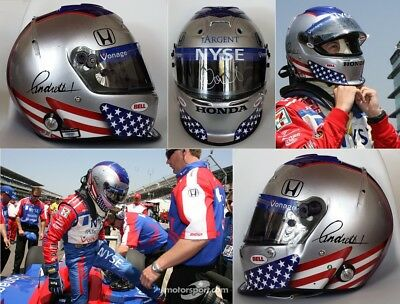Race used helmet Bell 2007 Marco Andretti Indycar Signed
