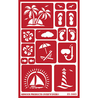 """Over 'N' Over Reusable Stencils 5""""X8"""" Paradise GE21-1665"""