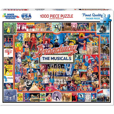 "Jigsaw Puzzle 1000 Pieces 24""X30"" Broadway WM1094"