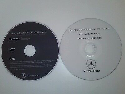 2017 Mercedes NTG2 DVD Europe v.18 and v.12 Comand APS road nav map update bonus