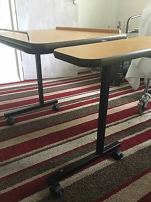 Fully adjustable over bed chair table