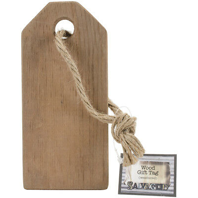 "Salvaged Wood Gift Tag Weathered Wood 7""X3""X.5"" GTWW"
