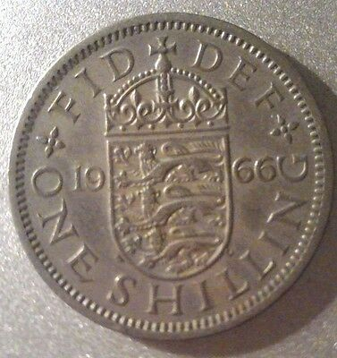 Elizabeth II Cupro-Nickel English Shilling 1953 to 1966