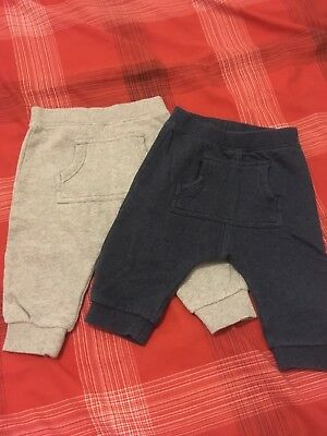 Next Baby Boy Joggers X2 Age 6-9 Months