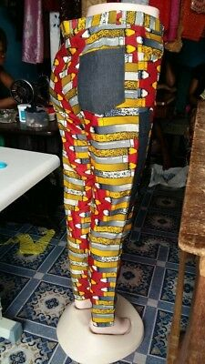 African Ankara tailored corporate trousers