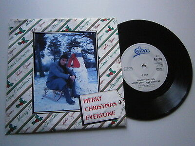 SHAKIN' STEVENS: Merry Christmas Everyone (CBS)  1985 7""