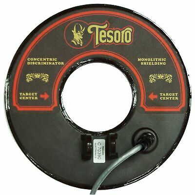 "Tesoro 8"" Round Concentric Search Coil Brown with 8ft Long Cable 8RC-LB-E"