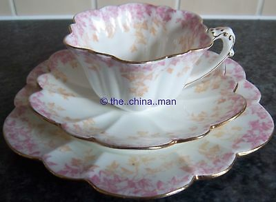 pre SHELLEY WILEMAN porcelain EMPIRE CUP TRIO TWINTONE IVY 5042 pattern
