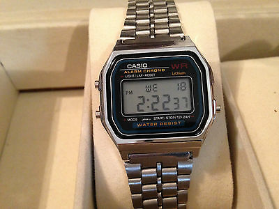 Classic Men's Retro Casio Silver Digital Watch