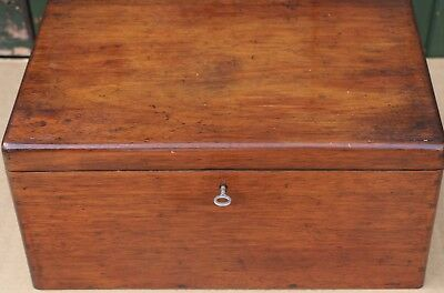 Useful Old Solid Wooden Box With Working Key