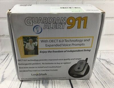 LogicMark Guardian Alert Panic Phone 911 System No Fees Contracts Subscriptions