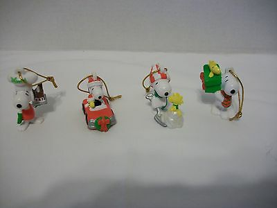 Vintage Whitmans Chocolates Peanuts Snoopy Collectible Ornaments-Set Of 4