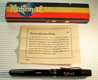 National Favorit - fountain pen, ready to write with, ebonit parts