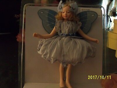 "4"" All Porcelain And Fully Jointed ""blue Fairy"""