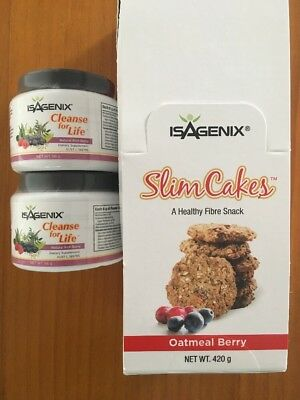 Isagenix Cleanse For Life (x2), Box of Slim Cakes (14) BRAND NEW UNOPENED