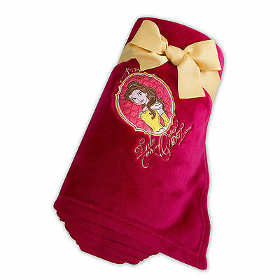 NEW Disney Store Princess Belle Fleece Throw Blanket Beauty and the Beast