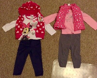 Lot Of 6 -- Baby Girls Clothes/Vest/Pants/Outfit Fall/Winter Size 18 Months