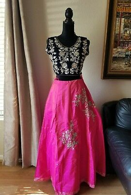 Indian Lehenga skirt with heavy choli, party wear embroidery
