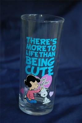 "Peanuts ""There's More to Life Than Being Cute"" Glass Vandor Products Snoopy Lucy"
