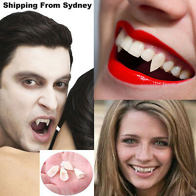 4pcs Vampire Zombie Dentures Fake Fangs Halloween Cosplay Party Props Devil Ghos
