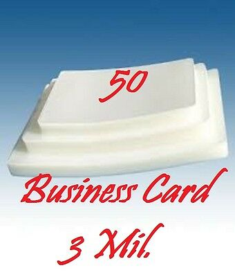Business Card 3 Mil 50 Pack Laminating Laminator Pouches Sheets  2-1/4 x 3-3/4