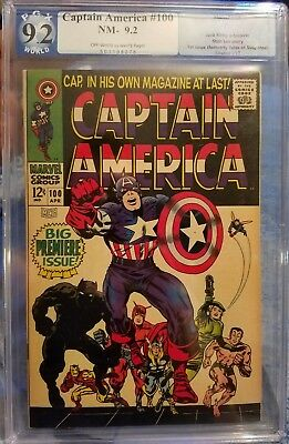 CAPTAIN AMERICA #100 pgx 9.2 1st Issue. Jack Kirby, Stan Lee story.
